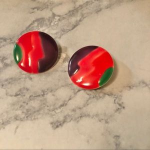 🔺Bright Colorful Vintage Statement Earrings 🔺🔺